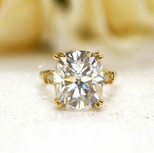 Radiant Cut Double Claw Bridal Forever One Wedding Engagement Ring 925 Silver
