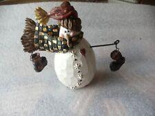boyds bears carvers choice Christmas ornaments Burt- Bundle up