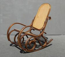 Etonnant Vintage French Country THONET Style Cane BENTWOOD Rocking CHAIR Mid Century