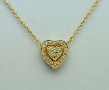 "Dev Valencia (c) 18K Yellow Gold Heart with Diamonds (16"")"