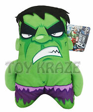 "Marvel Avengers Plush! The Incredible Hulk Small Soft Square Flat Dolls 7"" Nwt"