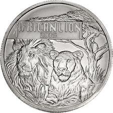 2015 Burundi 5000 Francs African Lion 1 oz .999 Silver Coin