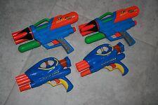 Nerf SuperMaxx 1500 Airtech 2000 Lot 4 Air Pressure Blaster Dart Gun Toy RARE