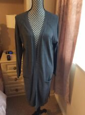 George Ladies Long Fine Knit Cardigan Size 16 Colour Grey
