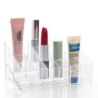 24 Clear Lipstick Acrylic Holder Cosmetic Organizer Display Stand Makeup Case