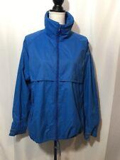 Helly Hansen Tech jacket men M Medium Blue Rain windbreaker coat zip Vtg