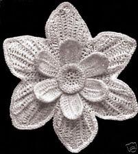 Vintage Irish Crochet PATTERN to make Narcissus Flower Motif Design Applique