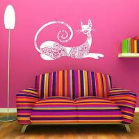 Beautiful House Cat Wall Art Sticker Large Vinyl Transfer Graphic Decal UK CA17