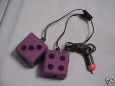 DICE -LIGHTED CAR DICE- MANY COLORS    $5.00 EACH PAIR