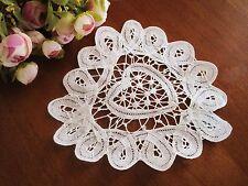 Relist Hot Sale @ Elegant Hand Batten Lace Cotton Heart Shape White Doily