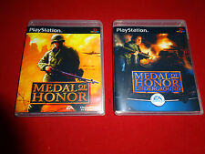 EMPTY Replacement Cases - Medal of Honor 1 2 Underground PlayStation PS1 PS2 PS3