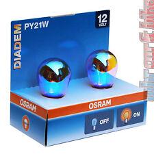 1 paia 21w 12v Osram Diadem Lampade frecce py21w Lampadine Blu-Arancione