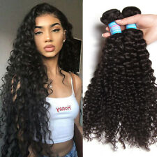 Brazilian Virgin Curly Hair Weave 1/3/4 Bundles 100% Curly Human Hair Extensions