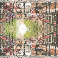 2 Serviettes papier Amsterdam Canal Decoupage Paper Napkins Landscape
