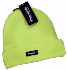 3M Thinsulate Acrylic Beanie Hi Vis Safety Fluoro Green Lime Warm Work Hat Cap