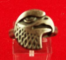 Eagle Head Adjustable Silver Plated Toe Ring Size 8 (64105)