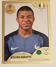 2018 PANINI WORLD CUP - KYLIAN MBAPPE (FRANCE) - ROOKIE STICKER RC # 209 GOLD