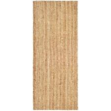 Beige 2x6 ft Woven Jute Runner Rug Living Room Hallway Kitchen Bath Area Carpet