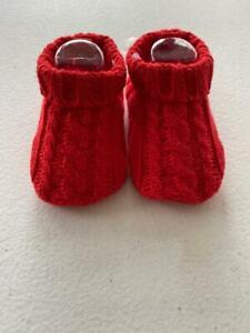 Carter's Baby Crocheted Red Booties Newborn New