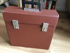 "Vintage Retro  12"" Vinyl LP Record Storage Box Carry Case 1970s EX CON"