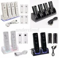 2/4X Battery+Charger Charging Dock Station For Nintendo Wii Remote Controller US