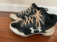 Under Armour Size 5 Youth Baseball Cleats High Tops Black and White