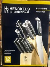 J.A. Henckels International Statement 12 Piece Knife Block Set NEW DAMAGED BOX