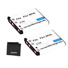 2x NP-45 NP45 Battery + BONUS for FujiFilm FinePix Z10 Z20 Z100 Z200 Z250 Z250
