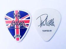 Def Leppard Guitar Pick! Phil Collen UK Flag Tortex Logo Guitar Pick!