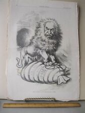 Vintage Print,LIONS LEGAL SHARE,Jan 1876,Th.Nast,Harpers,Political Cartoons