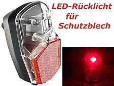 Fahrrad LED Rücklicht für Schutzblech-Montage mit Standlicht Naben-Dynamo FL-12•