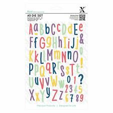 Xcut A5 Folk Alphabet Die Set Upper & Lower case Including Numbers 66 Pieces