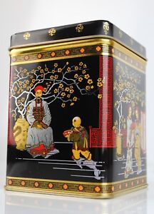 250g Chinese Tea Caddy - Storage Container Canister Tin Jar Vintage Traditional