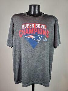 Men's Fanatics New England Patriots Gray Polyester Super Bowl Champions Tee XL