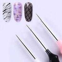 3pcs/ set Nail Art Liner Brushes Pens UV Gel Polish Paint Drawing Liner Brush