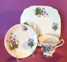 10x2.00 cm  Square Plate Hand Painted Purple Orchid Dollhouse Miniatures Food