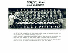 DETROIT LIONS 8X10 TEAM PHOTOS LOT OF 4  1952 1953 1954 1957 FOOTBALL
