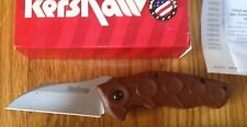 KERSHAW NEEDS WORK ASSISTED OPENING LINERLOCK KNIFE BROWN USA MADE NEW 1820BRN