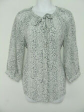Joie Womens Shirt Blouse Top 100% Silk Peasant Style Neck Tie Puffy Slvs Size XS