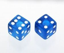 Transparent Blue Dice Knobs for Electric Guitar and Bass