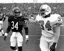 NFL Chicago Bears Walter Payton Houston Oilers Earl Campbell 8 X 10 Photo Pic