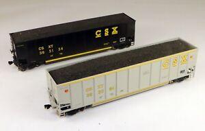 (2) E&C Shops #0405-10/0431-3 Johnstown Coalporters CSX 1/87 HO Scale