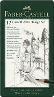 Faber Castell 9000 design set of 12 pencils 5B,4B,3B,2B,B,HB,F,H,2H,3H,4H,5H