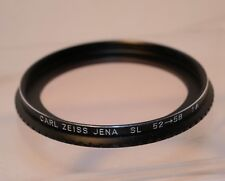 Carl Zeiss Jena 58mm skylight 1a SL Filter Combined 52mm-58mm Step up ring