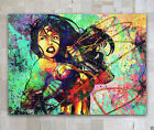 Wall Decor Art Abstract handcraft Oil Painting on Canvas Wonder Woman No Frame