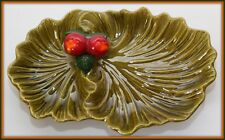 Maurice of California Art Pottery Apple Green Snack  Bowl Serving Dish Vintage