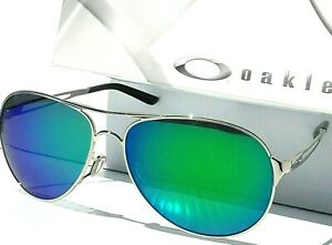 NEW* Oakley Caveat POLARIZED Galaxy Jade Silver Aviator Womens Sunglass 4054