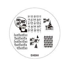 Árboles de Navidad Santa Ho Reno Nail Art Stamp Calcomanías Uñas Stamping Placa #60