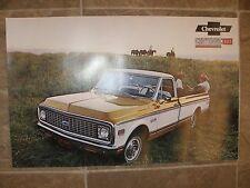1971 chevrolet truck dealer sales poster