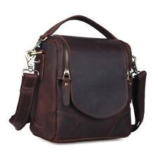 Unisex Leather DSLR Camera Bag for Canon Nikon Shoulder Bag Small Crossbody Case